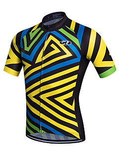 Fastcute Cycling Jersey Men's Short Sleeves Bike Jersey Top Quick Dry Breathable Sweat-wicking Coolmax Classic Spring Summer Fall/Autumn