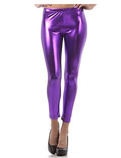 As mulheres saem diariamente eticosas de alta cor de legging de cor sólida, poliéster