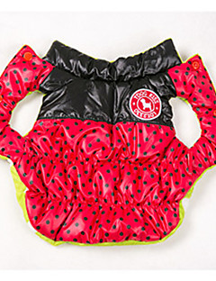 billiga Hundkläder-Hund Kappor Väst Hundkläder Prickig Svart Gul Ros Röd Blå Cotton Kostym För husdjur Herr Dam Vändbar Håller värmen