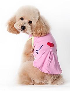 billiga Hundkläder-Katt Hund Dräkter/Kostymer T-shirt Väst Hundkläder Amerikanska / USA Grön Rosa Cotton Kostym För husdjur Herr Dam Ledigt/vardag Semester