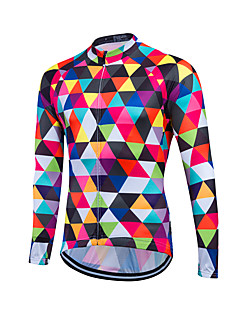 cheap Cycling Clothing-Fastcute Men's Long Sleeves Cycling Jersey Bike Jersey, Thermal / Warm, Quick Dry, Breathable, Sweat-wicking