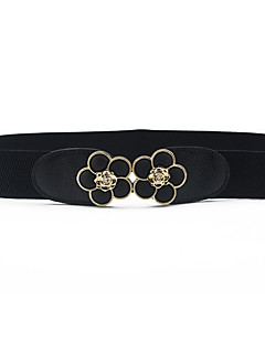 billige Trendy belter-Dame Dress Belt Spenne - Blomster, Ensfarget Harpiks Legering