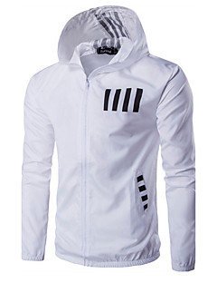 Men's Sport Active Spring Fall Jacket,Letter Hooded Long Sleeve Regular