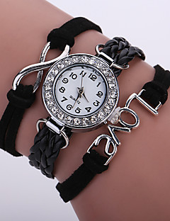 baratos -Mulheres Bracele Relógio Relógio de Moda Relógio de Pulso Quartzo Colorido imitação de diamante PU Banda Brilhante Vintage Casual Boêmio