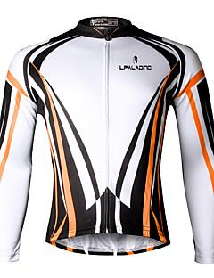 ILPALADINO サイクリングジャージー 男性用 長袖 バイク ジャージー 速乾性 抗紫外線 高通気性 ビデオ圧縮 軽量素材 反射性ストリップ 後ポケット 低摩擦 ポリエステル100% テリレン ファッション 春 夏 秋 エクササイズ&フィットネス レジャースポーツ