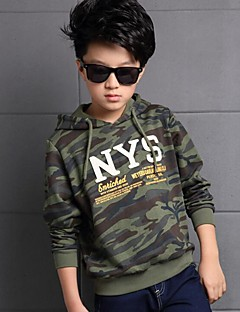 Boy's Casual/Daily Print Hoodie & SweatshirtCotton Winter Green / Gray