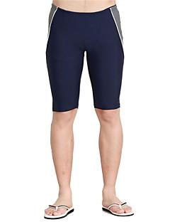 ספורטיבי לגברים בגדי ים נוח / דחיסה / רך Bottoms בגדי ים מתכוונן מתכוונן שחור / כחול שחור / כחול S / M / L