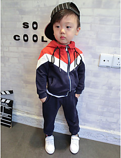 Boy's Sports Solid Hoodie & SweatshirtCotton Spring / Fall Black / Blue / Red