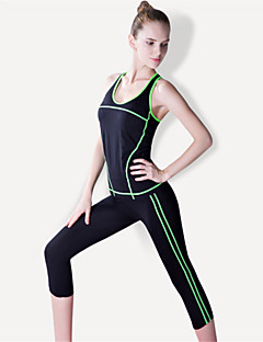 Yoga Trainingspak Pakken Sneldrogend Ademend Compressie Comfortabel Hoge Elasticiteit Sportkleding DamesYoga Pilates Training&Fitness
