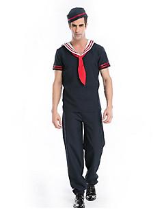 karriere Kostymer Matros Cosplay Kostumer Party-kostyme Mann Halloween Jul Nytt År Festival/høytid Halloween-kostymer Blæk Blå Ensfarget