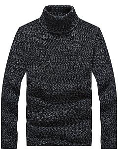 tanie Męskie swetry i swetry rozpinane-Męskie Rozmiar plus Sport / Praca Pulower Jendolity kolor Długi rękaw
