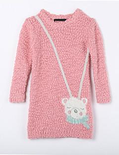 女の子の カジュアル/普段着 ゼブラプリント コットン,セーター&カーデガン 秋 レッド