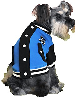 billiga Hundkläder-Katt Hund Tröja Hundkläder Färgblock Grå Gul Ros Röd Blå Cotton Kostym För husdjur Herr Dam Sport