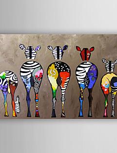 ราคาถูก บ้าน & สวน-ผ้าใบมือวาดภาพสีน้ำมันสัตว์ที่มีสีสันม้าลายศิลปะสมัยใหม่ยืดพร้อมที่จะแขวน