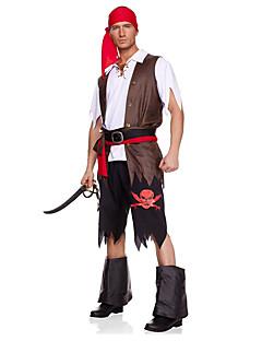 baratos Trajes da Noite das Bruxas-Pirata Fantasias de Cosplay / Festa a Fantasia Homens Dia Das Bruxas Festival / Celebração Trajes da Noite das Bruxas Sólido