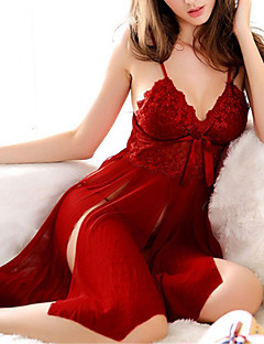 ieftine Valentine`s Day Collection-Capoate / Ultra Sexy / Costume Pijamale Polyester Solid Roșu / Negru