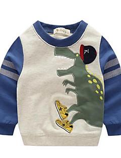 tanie Odzież dla chłopców-Bluza z kapturem / bluza Bawełna Dla chłopców Codzienny Wzór zwierzęcy Wiosna Jesień Długi rękaw Kreskówka Orange Green Niebieski