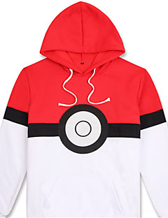 Cosplay Suits Inspirert av Pocket Monster PIKA PIKA Anime Cosplay Tilbehør قميص Hvit Bomull Unisex