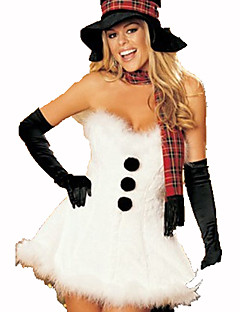Santa Suits Christmas Festival / Holiday Halloween Costumes White/Black Solid