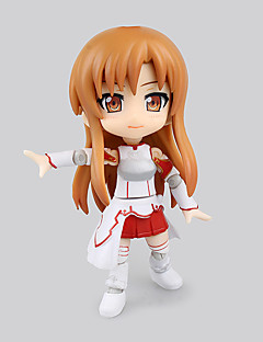 billige Anime cosplay-Anime Action Figurer Inspirert av Sword Art Online Asuna Yuuki PVC 16 CM Modell Leker Dukke