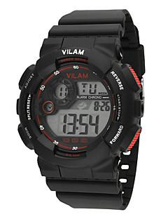 billige Høj kvalitet-Vilam Sportsur / Armbåndsur / Digital Watch Kalender / Vandafvisende / LCD Plastik Bånd Glitrende / Punkt / Slik Blåt / Grøn / Mangefarvet / Stopur