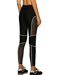 cheap Fitness Clothing-Women's Sexy Quick Dry Tight Compression Patchwork Sports Pants Fitness Running Leggings