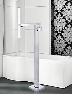 Moderne Art Deco/Retro Badekar Og Dusj Utbredt Hånddusj Inkludert Gulvstående with  Keramisk Ventil Et Hull Enkelt Håndtak Et Hull for