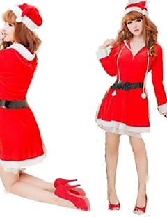 Feminino Natal Festival/Celebração Trajes da Noite das Bruxas Vermelho Sólido