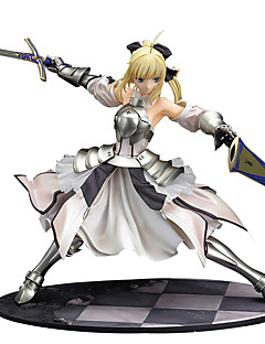 billige Anime cosplay-Anime Action Figurer Inspirert av Fate/Stay Night Saber Lily PVC 27 CM Modell Leker Dukke
