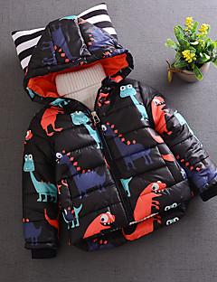 tanie Odzież dla chłopców-Kurtka / płaszcz Bawełna Dla chłopców Codzienny Zima Długi rękaw Black Green