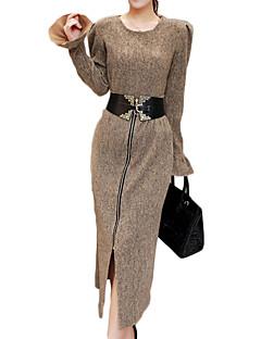 お買い得  レディースツーピースセット-女性用 モダンシティ プラスサイズ コットン ブラウス セット ソリッド スカート