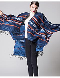 halpa -Naiset Vintage Akryyli Huivi,Patchwork Neliskulmainen,Punainen / Musta / Sininen / Violetti