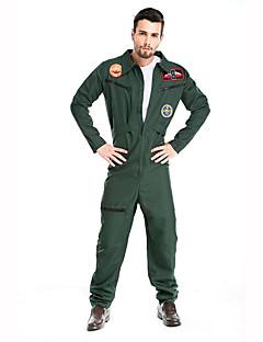 Soldat/Kriger karriere Kostymer Cosplay Kostumer Party-kostyme Mann Halloween Jul Festival/høytid Halloween-kostymer Grønn Trykt mønster