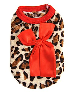 billiga Hundkläder-Katt Hund Tröja Väst Hundkläder Leopard Ros Röd Polär Ull Kostym För husdjur Herr Dam Ledigt/vardag Mode