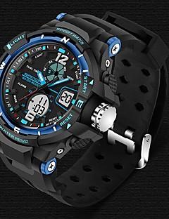 preiswerte Digitaluhren-SANDA Herrn Armbanduhr Smart Watch Militäruhr Modeuhr Sportuhr digital Japanischer Quartz Alarm Chronograph Wasserdicht LED Nachts