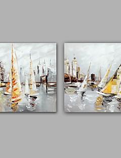 baratos Paisagens Abstratas-Pintura a Óleo Pintados à mão - Paisagem Clássico Modern Tela de pintura