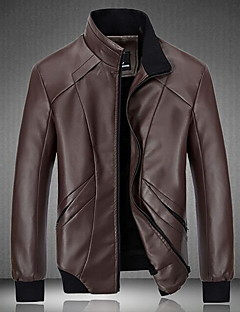 Men's Going out Casual Winter Leather Jacket