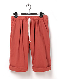 billige Herrebukser og -shorts-Herre Lin Harem Chinos Bukser Ensfarget