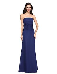 Coloană / Teacă Fără Bretele Lungime Podea Șifon Seară Formală Rochie cu Ruching de TS Couture®