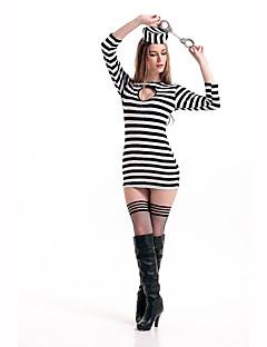 Gevangene carrière Kostuums Cosplay Kostuums Feestkostuum Vrouwelijk Halloween Carnaval Festival/Feestdagen Halloweenkostuums Print