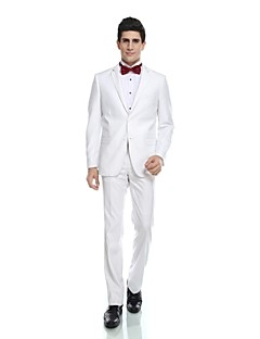 cheap Tuxedos-Tuxedos Tailored Fit Standard Fit Collar Notch Peak One-Button Single Breasted Two-buttons Cotton Wool Blend Wool & Polyester Blend
