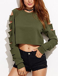 cheap Women's Tops-Women's T-shirt - Solid Colored, Hole