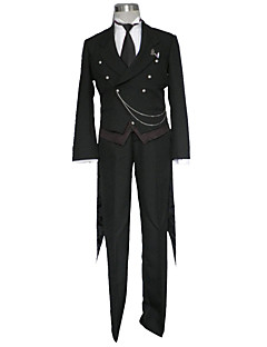 cheap Cosplay & Costumes-Inspired by Black Butler Cosplay Anime Cosplay Costumes Cosplay Suits Solid Colored Vest / Shirt / Pants For Men's