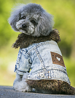 Dog Coat Denim Jacket/Jeans Jacket Dog Clothes Cowboy Keep Warm Fashion Jeans Black Blue