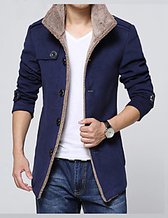 Men's Daily Vacation Office & Career Religious Celebrations Classic & Timeless Elegant & Luxurious Winter Jacket,Solid Solid Color Shirt