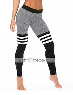 Women's High Rise Stretchy Skinny Sweatpants Pants,Active Striped Polyester Winter Fall