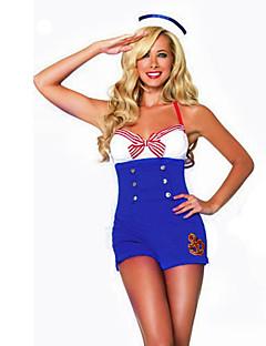 Matroos carrière Kostuums Cosplay Kostuums Feestkostuum Vrouwelijk Halloween Carnaval Festival/Feestdagen Halloweenkostuums Wit + blauw