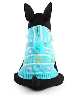 billiga Hundkläder-Hund Tröjor Hundkläder Rand Blå Rosa Akrylik Fiber Kostym För husdjur Herr Dam Gulligt Håller värmen Mode