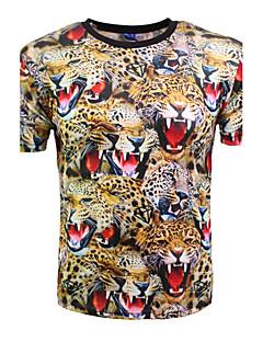 billige Herremote og klær-Rund hals T-skjorte Trykt mønster Fest Klubb Herre