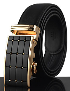 cheap Tuxedos & Suits-Men's Luxury Work Casual Leather Alloy Waist Belt - Solid Colored Stylish